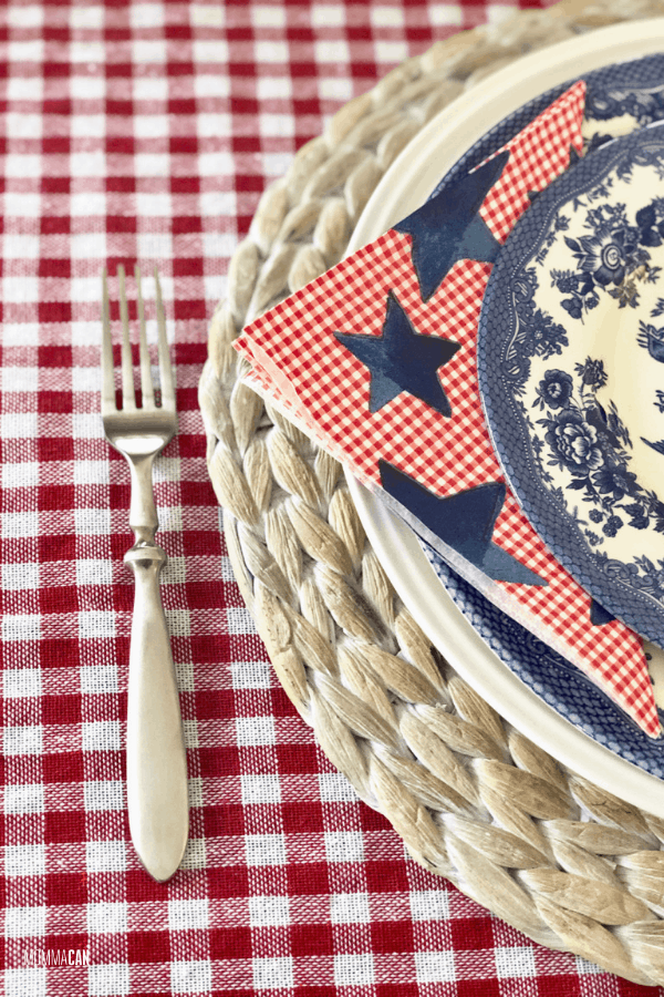 Red White and Blue Star Napkins