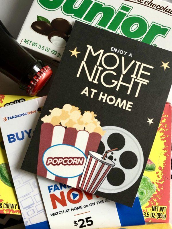Movie Night In Gift Basket Ideas