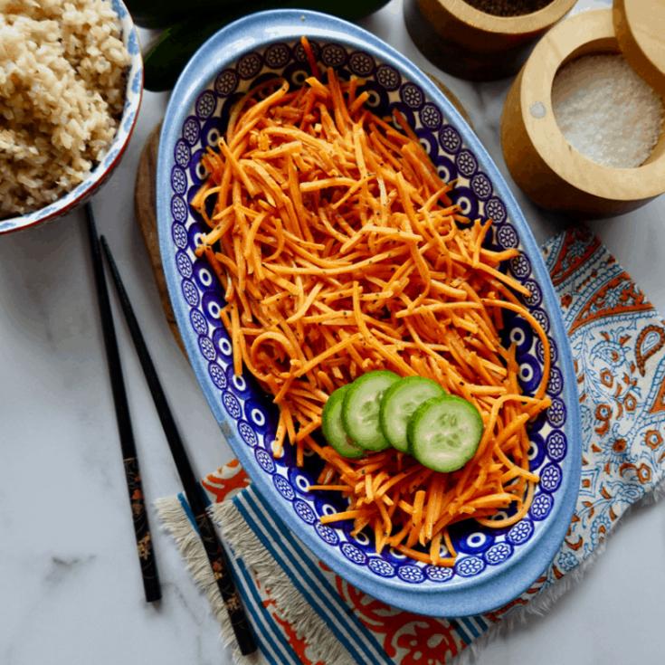 Three Ingredient Stir Fry Carrots