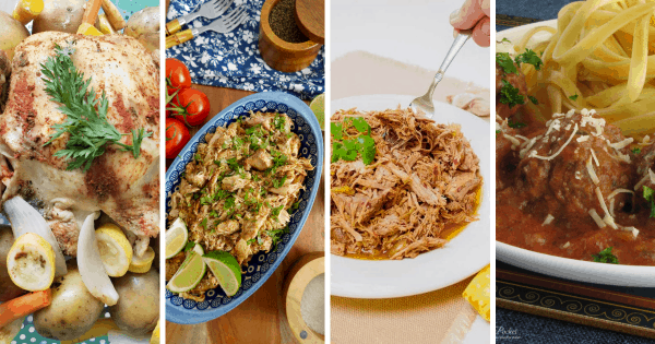 Chicken and Pork Slow cooker meals