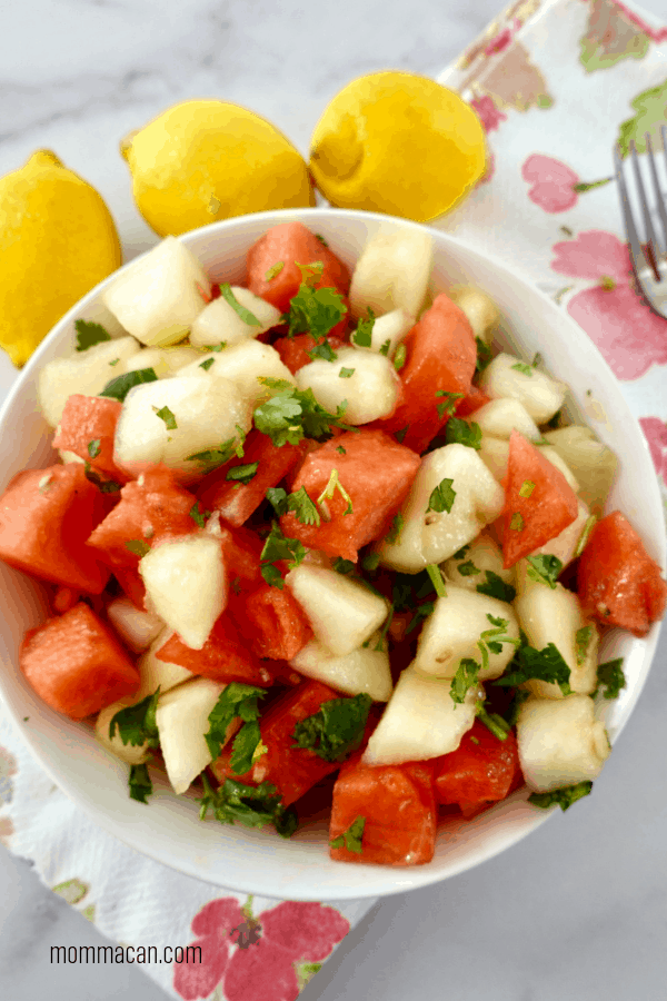 Canary Melon Lemon Cilantro Salad