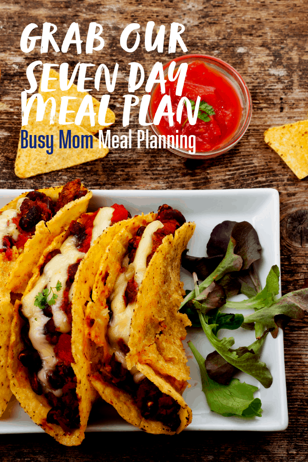 Seven Day Meal Plan