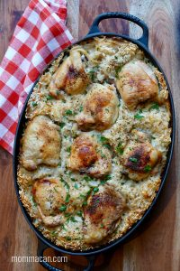Oven Baked Chicken and Rice Casserole Recipe
