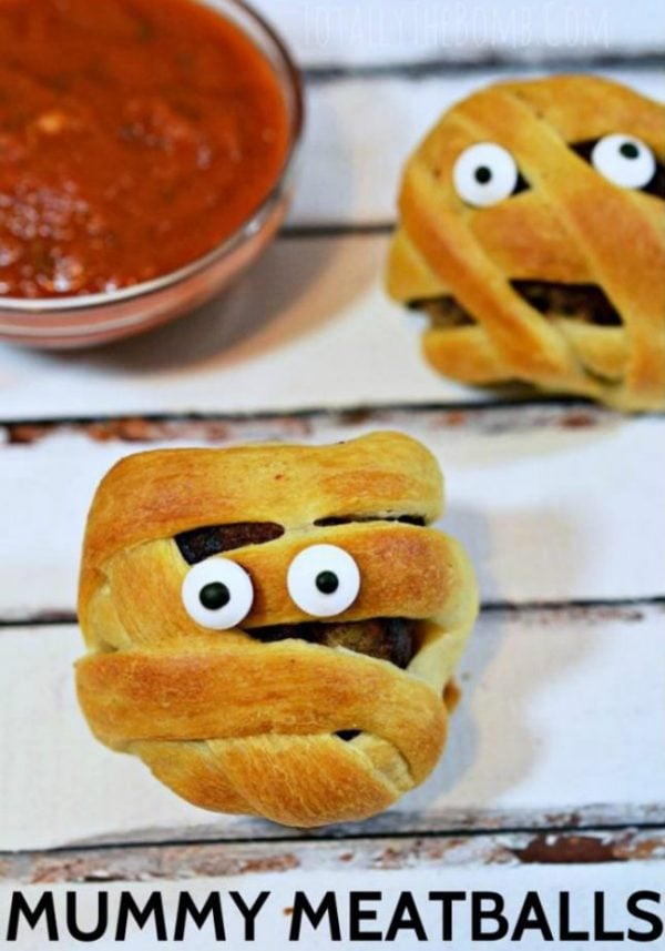 Mummy Meatballs a wonderful Halloween Appetizer