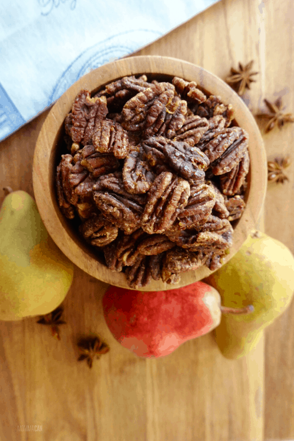 Maple Glazed Pumpkin Spice Pecans