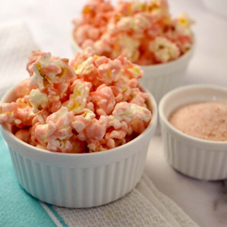Salty Sweet PInk Popcorn Easy Recipe