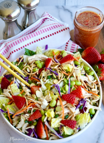 Fresh Salad Recipe with Strawberris