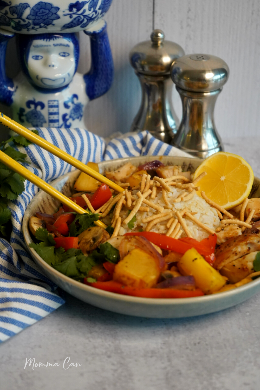 Chicken Teriyaki Pineapple Vegetable Bowl