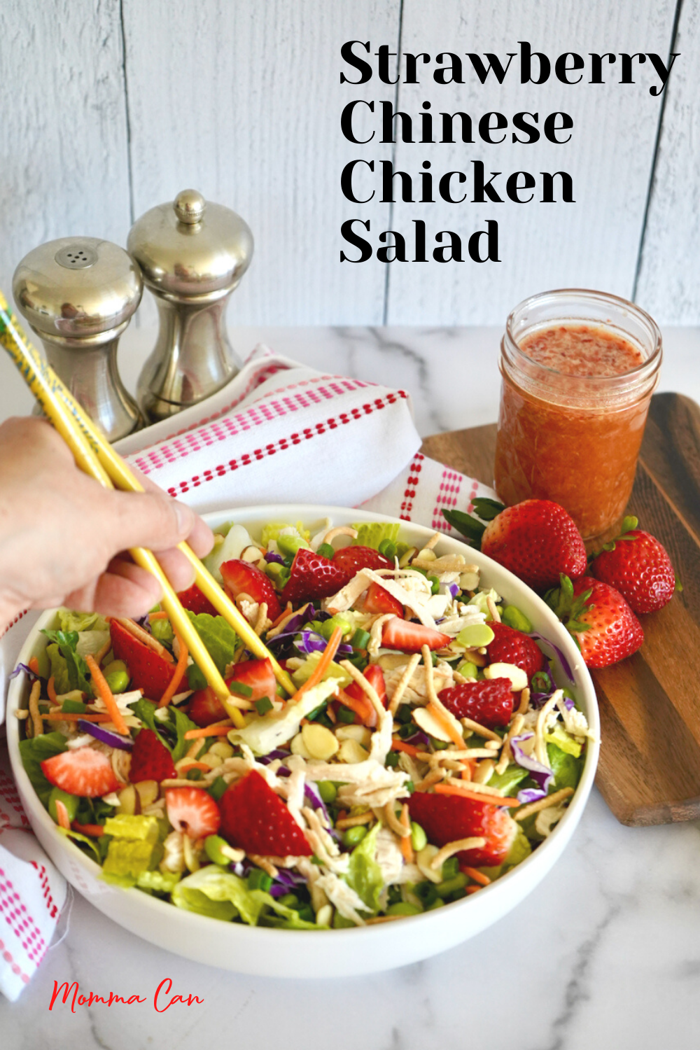 The Best Strawberry Chinese Chicken Salad