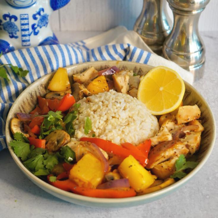 Chicken Teriyaki Pineapple Vegetable  Bowl