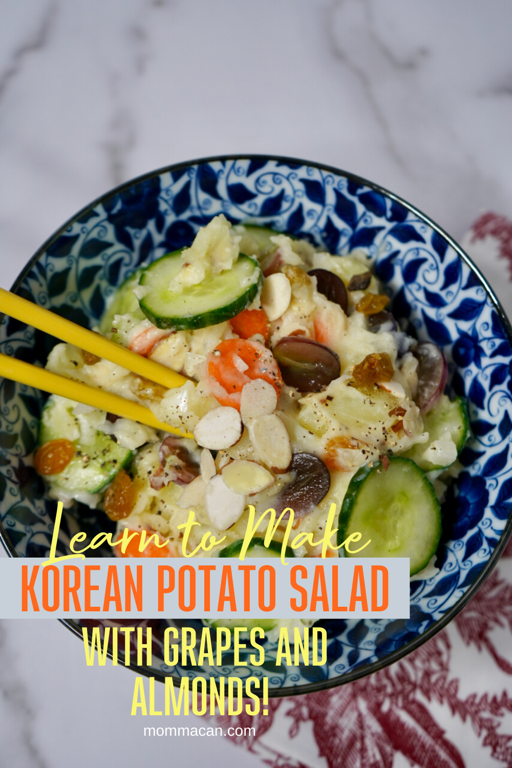 Vegetarian Korean Potato Salad