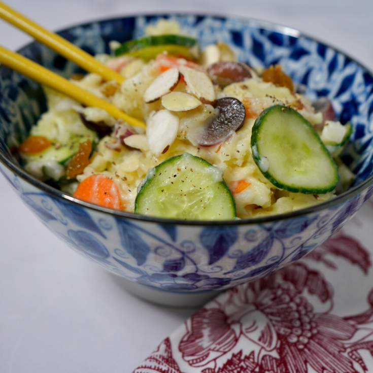 Vegetarian Korean Potato Salad Recipe