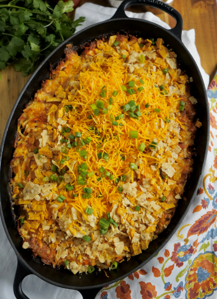 Spicy Taco Chicken Hash Brown Casserole Recipe