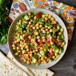 Chickpea Cucumber Tomato Salad with Fresh Herbs