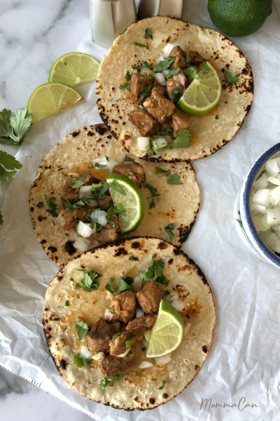 Mexican Cola Pork Carnitas Recipe with Lime slices