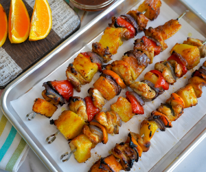 Oven Baked Pineapple Chicken Kabobs