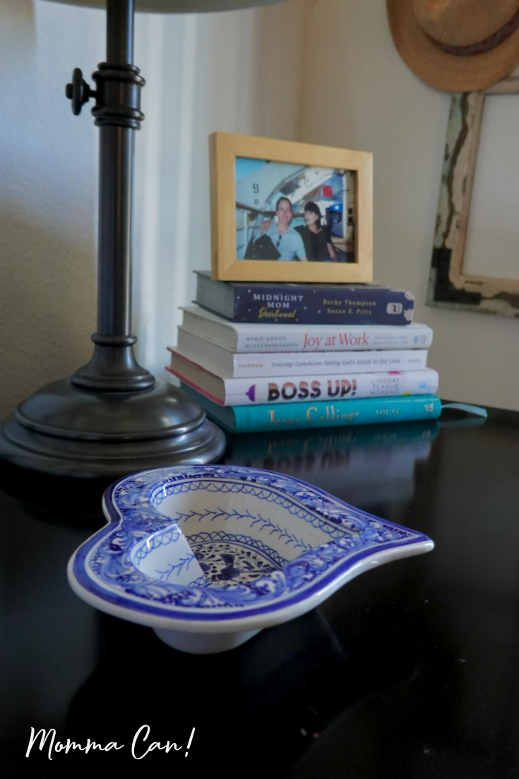 Grab my three easy steps to organize your nightstand.