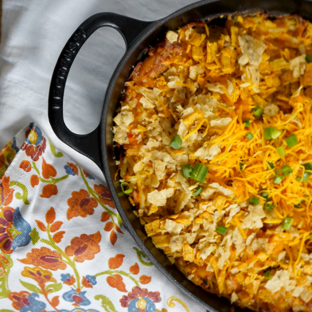 Spicy Taco Chicken Hash Brown Casserole