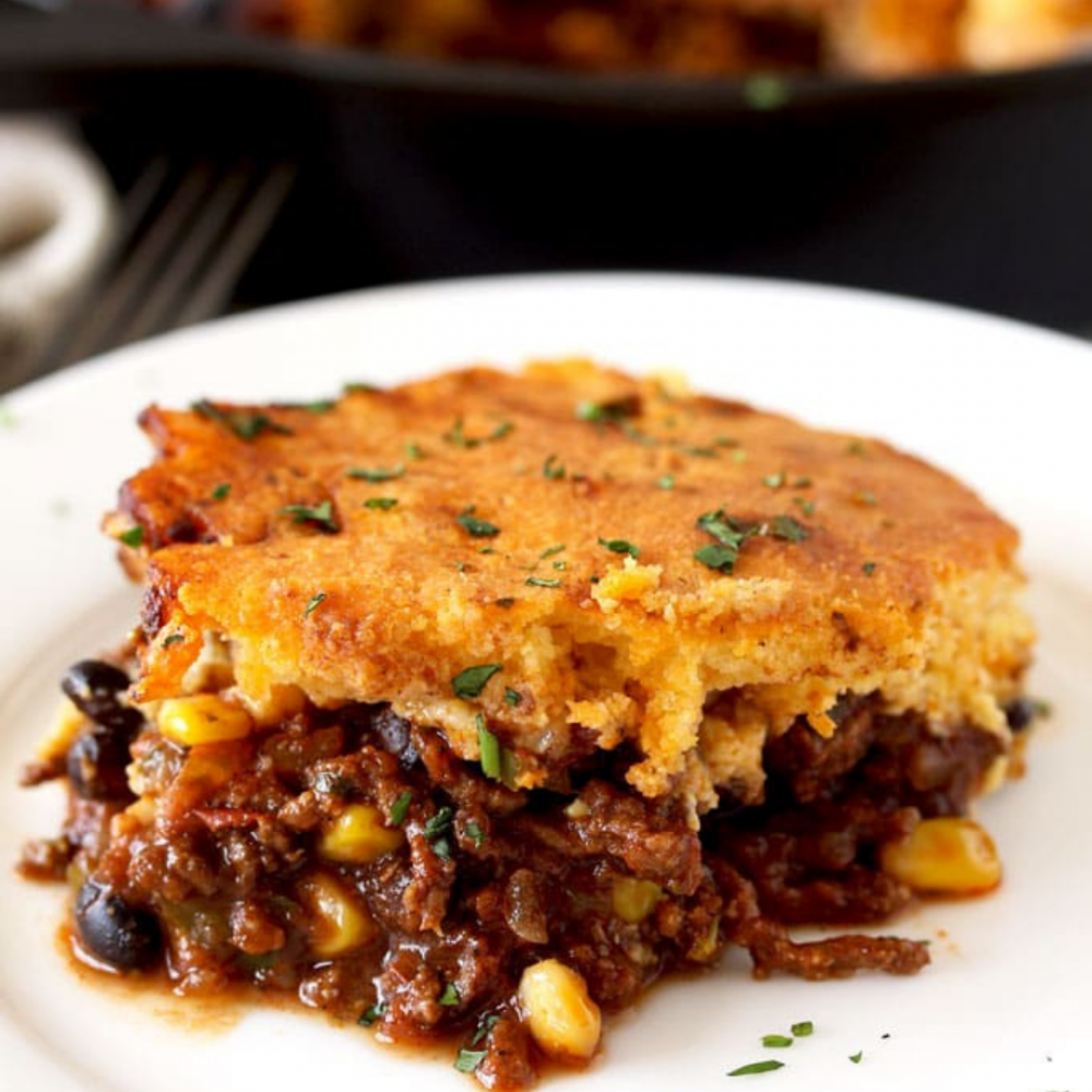 Tamale Pie with Brown Butter Cornbread