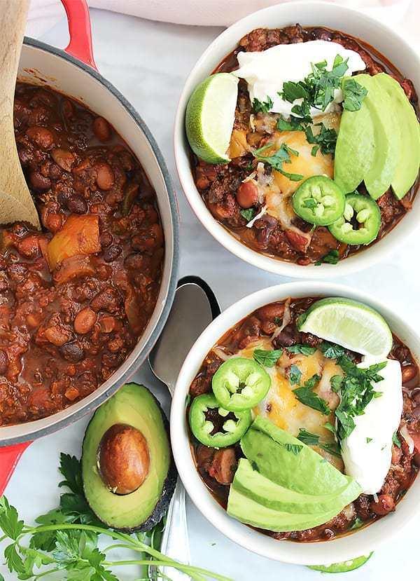 roasted ground beef chili