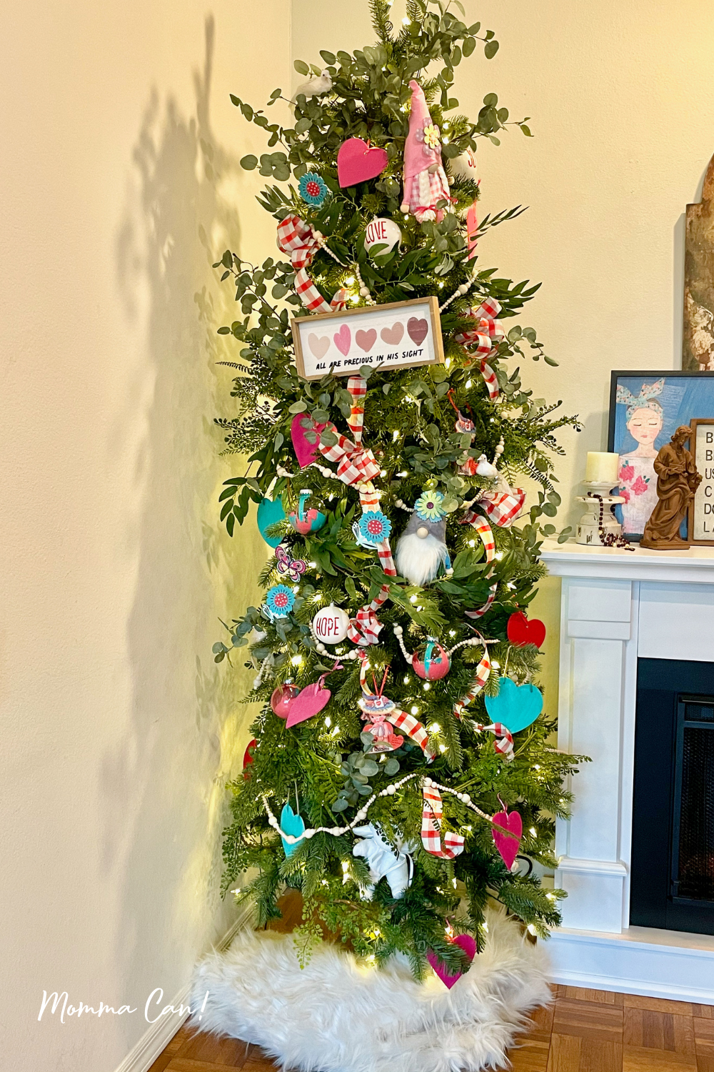 Valentine's Day Decorated Christmast Tree