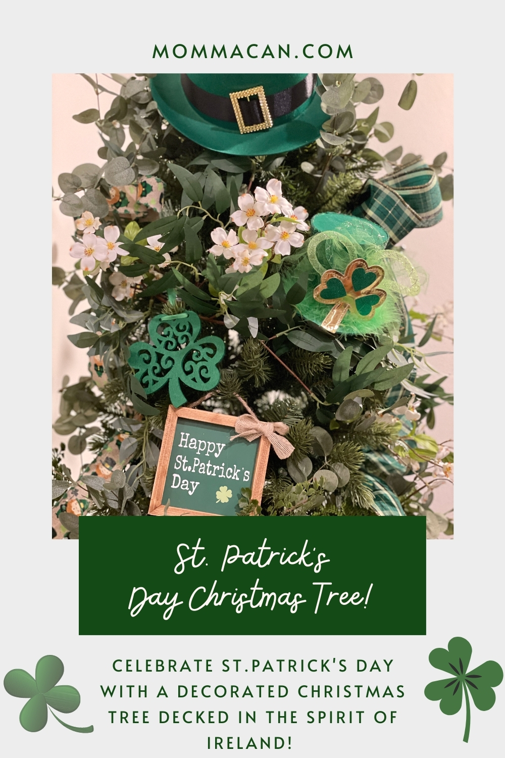 St. Patrick Day Christmas Tree