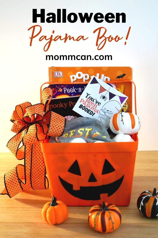 Hallowewn Pajama Boo Bucket with free printable gift tag with subscription